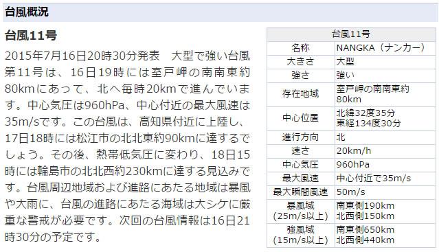 台風11号来週