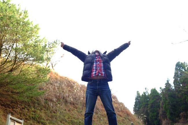 日本一の石段 頂上