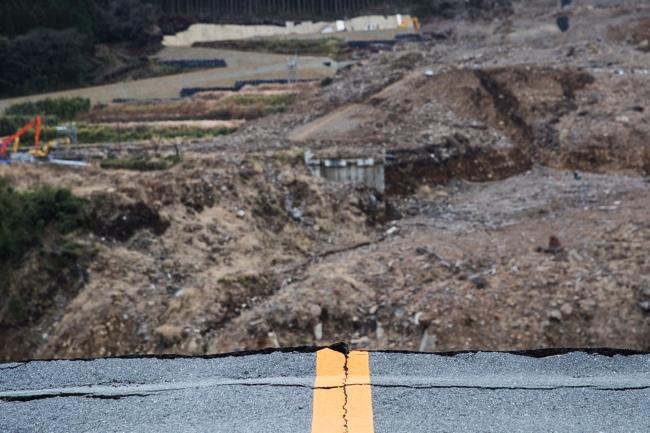 阿蘇大橋 崩落