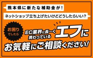 熊本県に「中小企業者業態転換等支援事業補助金」が!対面販売に加えてECサイトを構...
