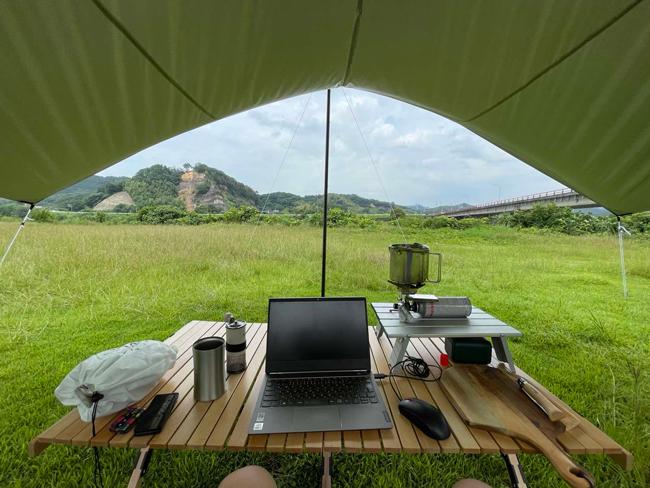 ソロキャンプしながらzoomMTGは最高♪自然の中での仕事もはかどります♪熊本県...